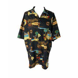 ~Men's size XL tori Richards Honolulu black top